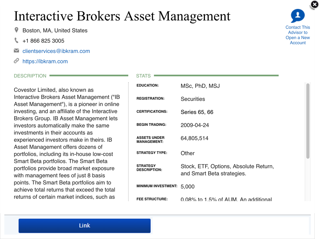 Ib Asset Management Advisor Instructions
